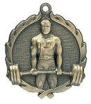 Wreath Male Weightlifting Medals Body Building Trophy Awards
