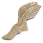 Winged Foot Chenille Pin Chenille Lapel Pins