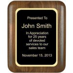 Elliptical Solid Walnut Plaque Employee Awards