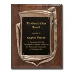 Antique Bronze Frame with walnut plaque Employee Awards