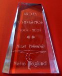 Acrylic Gymnastic Award End of Season