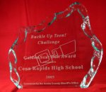 Buckel Up Acrylic Award Fire and Safety Awards