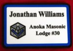 Masonic Name Badge Masonic Theme