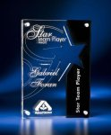 Star Cutout Clear and Black Acrylic Award Square Rectangle Awards