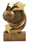 Volleyball Star Swirl Award Volleyball Trophy Awards