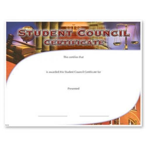 student council certificate awards
